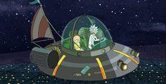 Afbeeldingsresultaat voor rick and morty spaceship