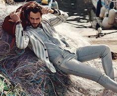 Milan Krouzilby Stefano Galuzzi for ELLE Man France Magazine