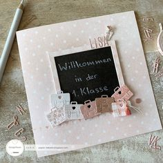 Papierliebelei: back to school Love Store, Lisa, Cardmaking And Papercraft, Teacher Appreciation Gifts, Card Maker, Stamping Up, Scrapbook Cards, Gift Bags, Back To School