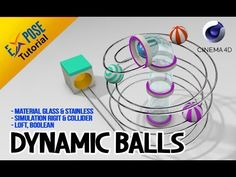 (107) Cinema 4D Tutorial - Dynamic Balls (good for beginner) - YouTube