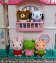 Amigurumi animals crochet pattern by amigurumi photos, via Flickr