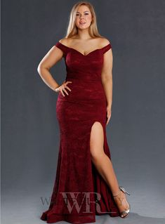 Ferella Dress By Jadore A stunning full length gown by Jadore. A lace style featuring a sweetheart, off shoulder neckline and side split. Wine Color Bridesmaid Dress, Royal Blue Bridesmaid Dresses, Bridesmaid Dresses Plus Size, Grad Dresses, Dressy Dresses, Sexy Dresses, Celtic Dress, Pretty Prom Dresses, Womens Dress Suits