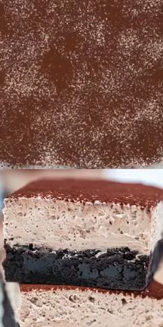 Chocolate Mousse Brownies are creamy, indulgent and loaded with chocolate, making them the perfect dessert. Baking Recipes, Cookie Recipes, Snack Recipes, Dessert Recipes, Trifle Bowl Recipes, Pastry Recipes, Vegan Snacks, Shrimp Recipes, Salmon Recipes