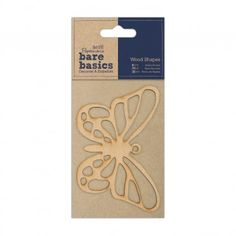 Wood Shapes - Butterfly - Bare