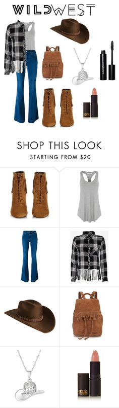 """""""#wildwest"""" by kikonmhonchumi ❤ liked on Polyvore featuring Yves Saint Laurent, Glamorous, STELLA McCARTNEY, Rails, Bailey Western, Liebeskind, Lipstick Queen and Bobbi Brown Cosmetics"""