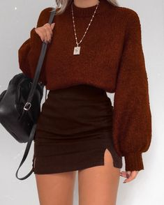 ♥ 52 winter outfits skirt ideas for women 1 Cute Casual Outfits, Girly Outfits, Retro Outfits, Stylish Outfits, Winter Fashion Outfits, Fall Outfits, Vetement Fashion, Fashion Looks, Fashion Fashion