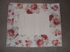 Red Norfolk Rose Country French Bath Mat Kitchen Rug Waverly