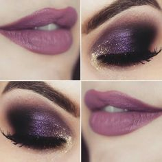 Sexy Makeup, Beauty Makeup, Makeup Looks, Plum Eyeshadow, Eyeshadow Looks, Makeup Lipstick, Hair Makeup, Samantha Wedding, Purple Makeup
