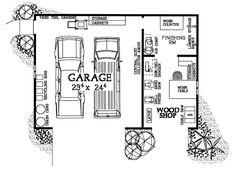First Floor Plan of Garage Plan 91262