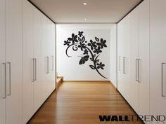 W 0160 Virág motívum faltetoválás - WALLtrend - faltetoválás, falmatrica…