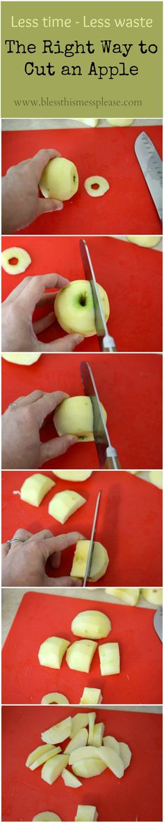 How to cut an apple…