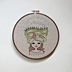 home girl  embroidery hoop art   6 hoop by cozyblue on Etsy