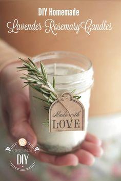 DIY lavender-rosemary candles