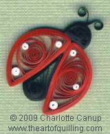 Paper Quilling Free Patterns | ... Ladybug — Intermediate Quilling Pattern | theartofquilling.com