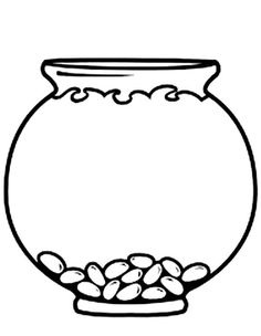 Empty Fish Bowl Coloring Page