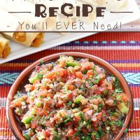 The BEST & Only Fresh Salsa Recipe You'll EVER Need! Mexican Food Recipes, Vegan Recipes, Ethnic Recipes, Fresh Salsa Recipe, Mexican Salsa, Pesto Sauce, Best Appetizers, Tex Mex, Entrees