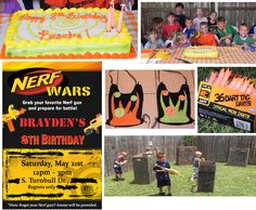 DIY NERF Boy Birthday Party for an 8 year old