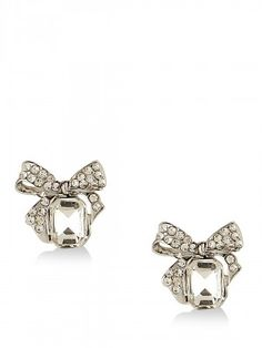 FOREVER NEW Diamante Bow Stud Earrings from koovs.com Earrings Online, Forever New, Heart Ring, Bows, Stud Earrings, Jewelry, Women, Fashion, Arches