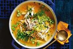The classic chicken and sweetcorn soup gets a Matt Moran makeover.