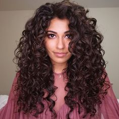 Dec 2017 - RESULTS! a lot of my bottom curls were stretching out into But after this cut, they all sprang back up into 〰---->➰I miss my length, but I've learned from that in order to have long hair that's healthy/thick, you gotta get regular haircuts Thick Curly Hair, Curly Hair Tips, Curly Hair Care, Wavy Hair, Her Hair, Curly Hair Styles, Natural Hair Styles, Curly Hair Layers, Long Curly Hairstyles