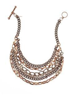 Paige Novick Rose Gold Tangled Collar Necklace @paigenovick #necklace