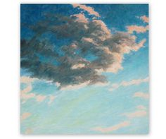 Oil painting 'Evening sky' sunset sky clouds by AzureDayArt This one belongs to me :) Check out her other beautiful paintings on Etsy