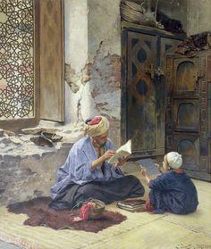 Ludwig Deutsch - An Arab Schoolmaster @@@@......http://www.pinterest.com/nikitaidou/art-orientalism/