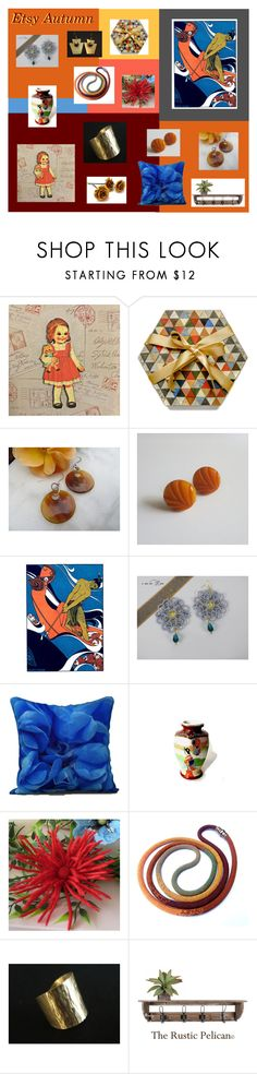 """Etsy Autumn"" by anna-ragland ❤ liked on Polyvore featuring Verso and vintage"
