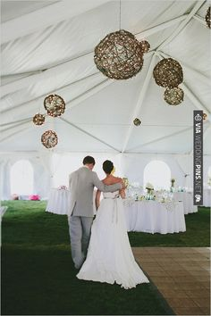 hanging twine ball | VIA #WEDDINGPINS.NET