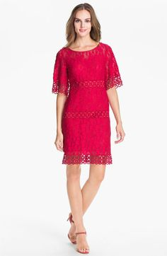 Yes, it's fuschia.  Laundry by Shelli Segal Lace Shift Dress available at #Nordstrom