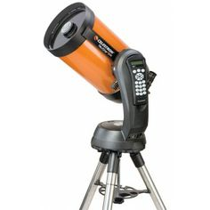 """Celestron 11069 Nexstar 8 SE Schmidt-Cassegrain Telescope  The largest of the NexStar SE family with 78% more light gathering than a 6"""" model, the NexStar 8 SE will enable you to see deep into the Universe. The distinctive patented fork arm with ergonomically designed integrated hand control cradle gives solid support to Celestron's classic 8"""" optics. Features Schmidt-Cassegrain 8"""" aperture optics with our premium StarBright XLT coatings and a powerful 2,032mm focal length and f/10 focal…"""
