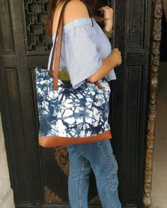 Tote bag shibori dye / Handmade by Chic&Unique