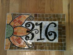 Custom Mosaic Address Plaque by melissaforcier on Etsy, $104.00