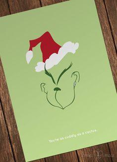 Grinch Minimalist Folded Card 4x6 20 Pack by BonniMaceDesigns