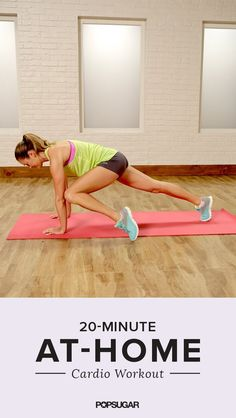 A great cardio workout you can do in your living room! If you hate running, this is the video for you. It's a 20-minute calorie burner.