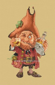 Buy+Cheers+with+St.+Patrick+Chart+Online+at+www.sewandso.co.uk