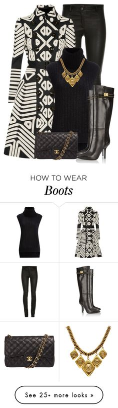 """Trench Coat + Tall Boots"" by lbite on Polyvore featuring Burberry, 3.1 Phillip Lim, Chanel and Emilio Pucci"