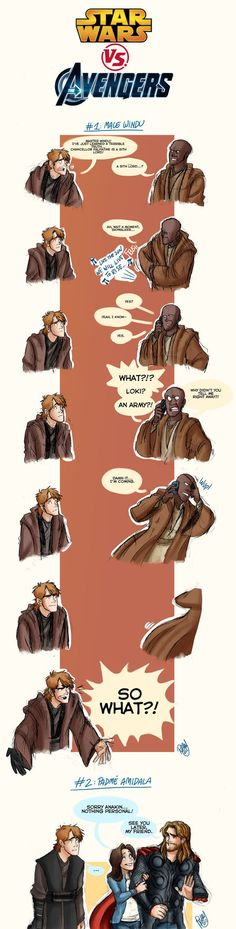 The Avengers VS Star Wars by ~Renny08  I laughed soo hard when I saw this... poor guy :)