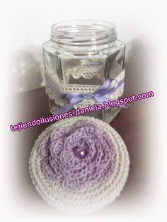 tejido crochet y artesanías: Más frascos decorados.