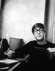 John Lennon - I had to look twice but what a great shot of him, the inquisitive look
