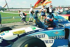 Michael Schumacher (GER) (Mild Seven Benetton Renault), Benetton B195 - Renault RS7 3.0 V10 (finished 1st) 1995 German Grand Prix, Hockenheimring