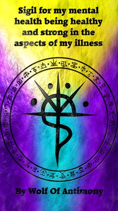 Sigil created by wolf of antimony Witch Symbols, Rune Symbols, Magic Symbols, Viking Symbols, Egyptian Symbols, Viking Runes, Ancient Symbols, Magick Book, Magick Spells