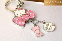 "Hello Kitty & Pink Bow Charms Keychain ( Use Coupon Code ""KittySavings – kitties R US"
