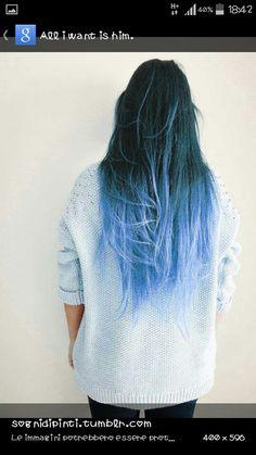 Shatush blu♡♡