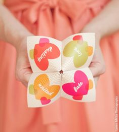Cootie Catcher Invitation Suite  SAMPLE ONLY par onelittlem sur Etsy