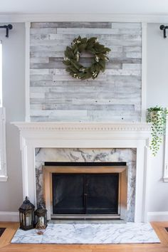 4 Swift Simple Ideas: Small Living Room Remodel Cabinets living room remodel with fireplace interior design.Living Room Remodel Before And After Budget small living room remodel cabinets.Living Room Remodel With Fireplace Mantels. Fireplace Redo, Home Fireplace, Diy Fireplace, Wood Fireplace, Living Room Remodel, Fireplace Remodel, Wood Panel Walls, Diy Fireplace Makeover, Reclaimed Barn Wood