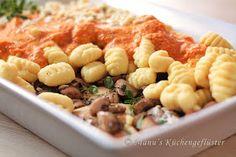 Manus Küchengeflüster: Gnocchi-Auflauf in Tomaten-Frischkäse-Creme