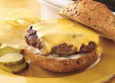 Grilled Ranch Cheeseburgers Recipe