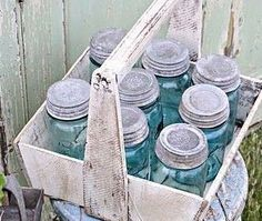 very old mason jars