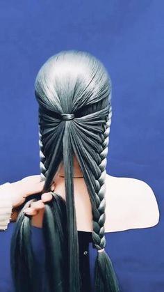 Hairdo For Long Hair, Long Hair Video, Easy Hairstyles For Long Hair, Ponytail Hairstyles, Girl Hairstyles, Beach Hairstyles, Wavy Hair, Wedding Hairstyles, Step Hairstyle